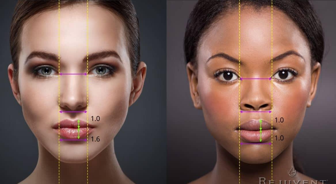 Esthetique Genève - Proportions selon les origines pour repulper les lèvres
